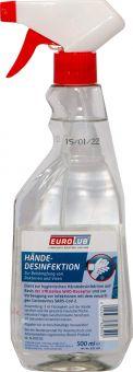 Desinfektionmittel Hände Kunststoff Sprühflasche 500 ml Viren EUROLUB 826500