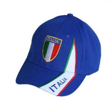 Hilkeys Italien Italia Baseballcap mit Wappen bestickt blau Fancap Landeswappen