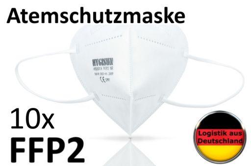 10x weiße FFP2 Masken Mundschutz Alltagsmaske Atemschutzmaske Gesichtsmaske