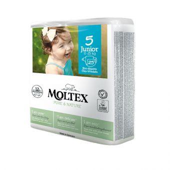 25 St. MOLTEX pure & nature Öko-Windeln Babywindeln JUNIOR Gr 5 (11-25 kg)