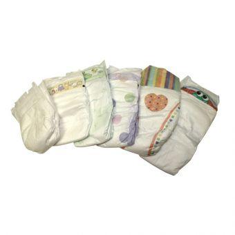 Babywindeln Gr 2 Mini 3 bis 6 kg TESTPACKUNG 50 St. B-Ware Einwegwindel