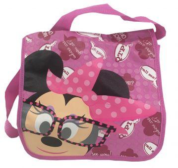 Disney Minnie Mouse mit Brille Messenger Bag Kindergartentasche pink 31x24x9cm