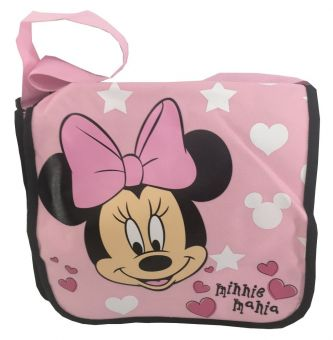 Disney Minnie Mouse mit Schleife Messenger Bag Kindergartentasche pink 31x24x9cm