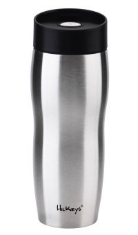 HilKeys Thermobecher schwarz 360ml Druckverschluß zerlegbar Edelstahl doppelwandig