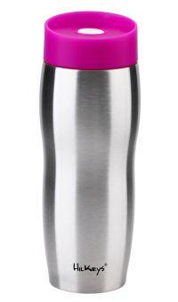 HilKeys Thermobecher pink 360ml Druckverschluß zerlegbar Edelstahl doppelwandig