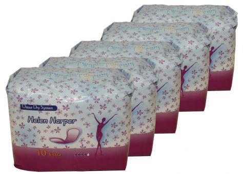 50 Einlagen für leichte Inkontinenz Helen Harper extra 31x8cm 5 Pack je 10 St.
