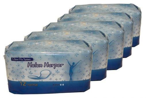 60 Einlagen für leichte Inkontinenz Helen Harper normal 25x6,5cm 5 Pack je 12 St