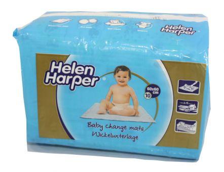 6x Helen Harper Baby Wickelunterlage 60x60cm 10er Packung