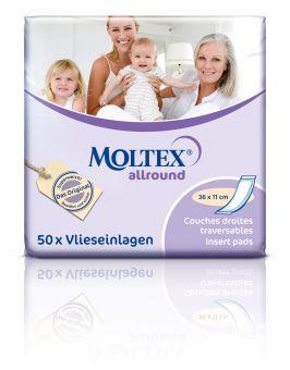 MOLTEX allround Hygiene Einlagen 50er 36x11cm Inkontinenzeinlagen Damen u Herren