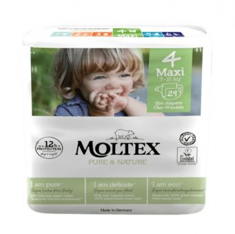 29 St. MOLTEX pure & nature Öko-Windeln Babywindeln MAXI Gr 4 (7-18 kg)