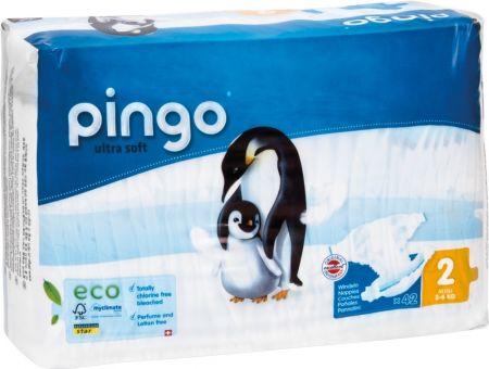 168 St. Pingo BIO Windeln MINI Größe 2 (3-6 kg) 4x Beutel Karton