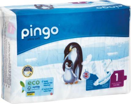 108 St. Pingo BIO Windeln NewBorn Größe 1 (2-5 kg)  4x Beutel