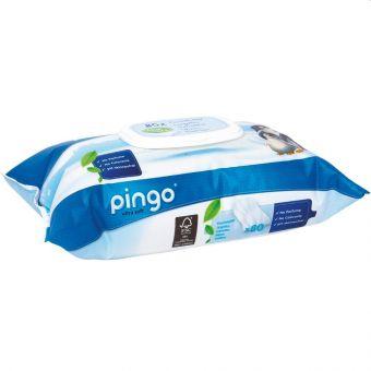 Karton Pingo Feuchttücher 12x 80er Pack Tücher Aloe Vera dermatologisch getestet