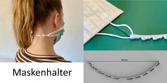 Hinterkopf Maskenhalter Ohrenschoner Kunststoff weiß 180mm für Muldschutz