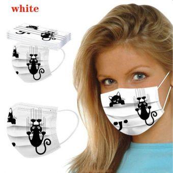 5 St. Atemschutzmaske Katze WEIS Mundschutz OPMaske Gesichtsmaske Einweg 3 Lagig